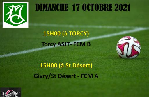 Les matchs du FCM ce dimanche