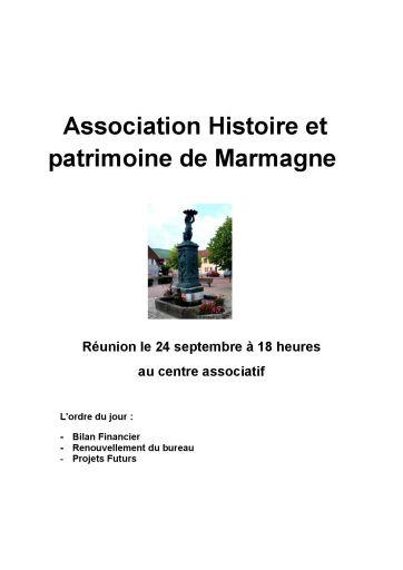 AG de l'association histoire et patrimoine