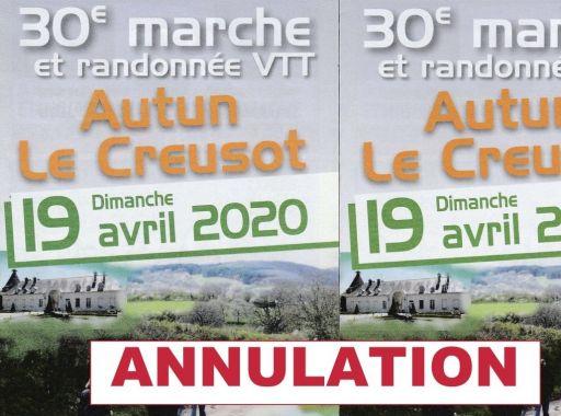 Annulation de la marche Autun Le Creusot
