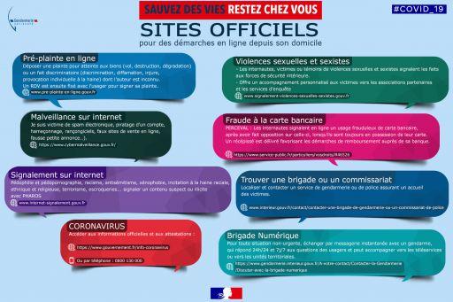 Sites officiels pour des démarches en ligne depuis son domicile
