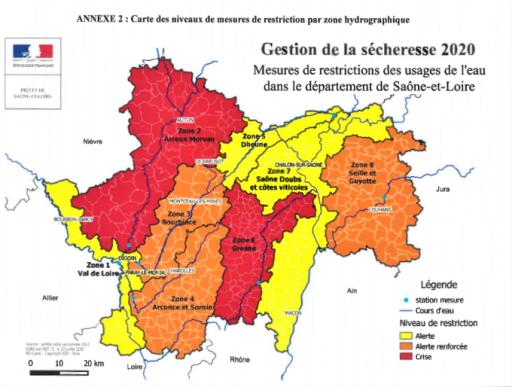 Restrictions de l'usage de l'eau: La zone Arroux-Mesvrin dont Marmagne passe en crise